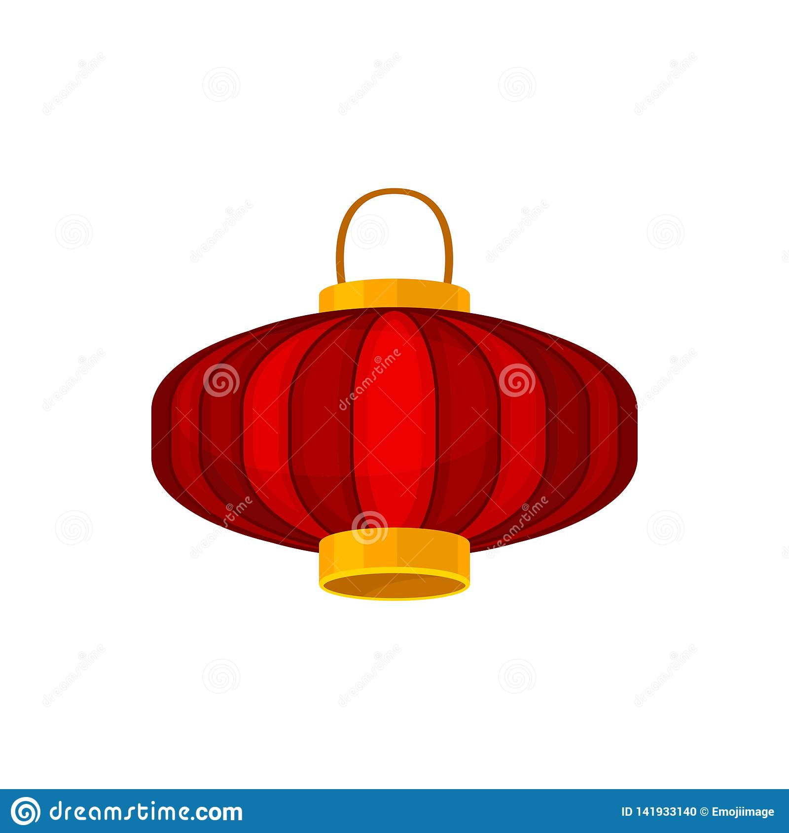 Red Chinese Lanterns On White Background. Asian Concept ...