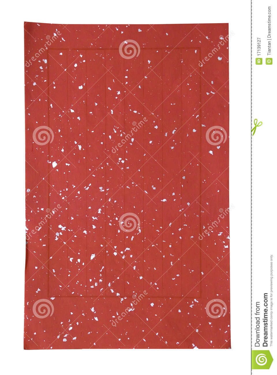 Red Chinese Paper For Calligraphy Royalty Free Stock