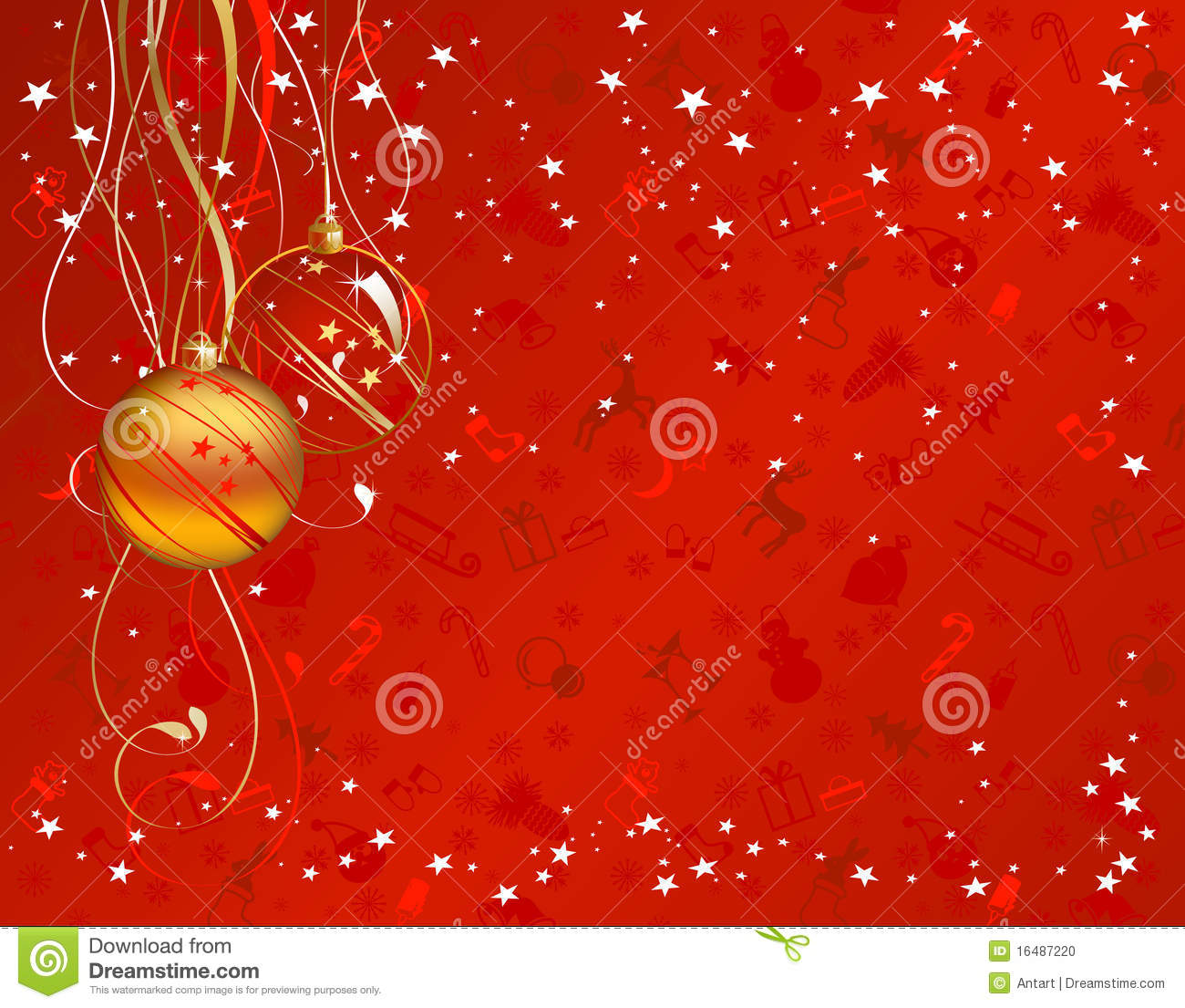 Red christmas backdrop stock photo image 16487220
