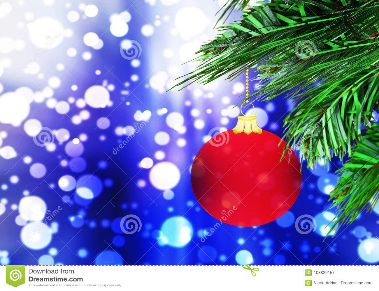 Background Abstract Sport Volleyball Blue Yellow Ball: Red Christmas Ball Background Blue Snow Circles Stock