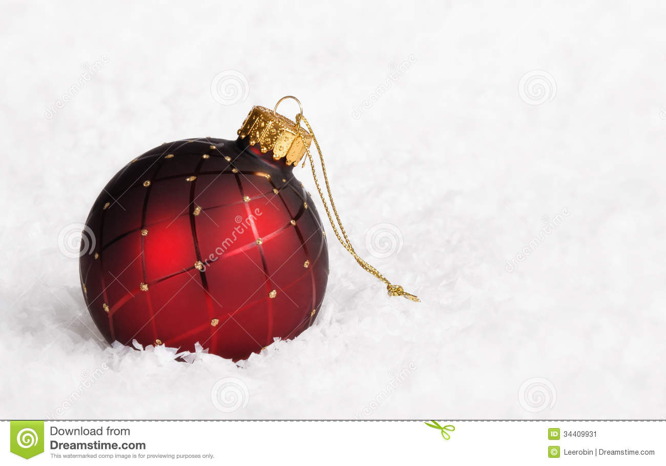 Red Christmas Ball Ornament Stock Image