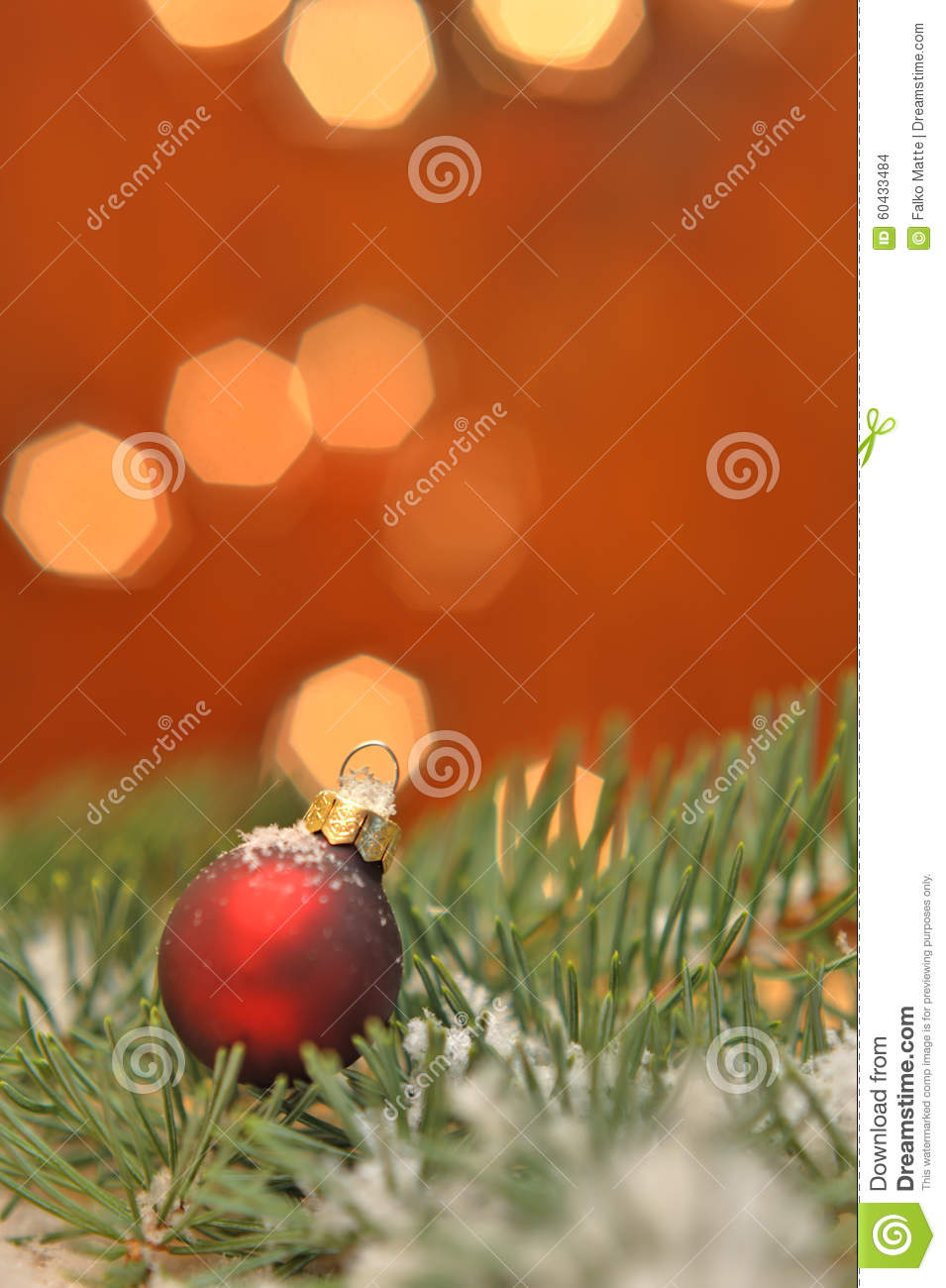 Red Christmas ball in pine