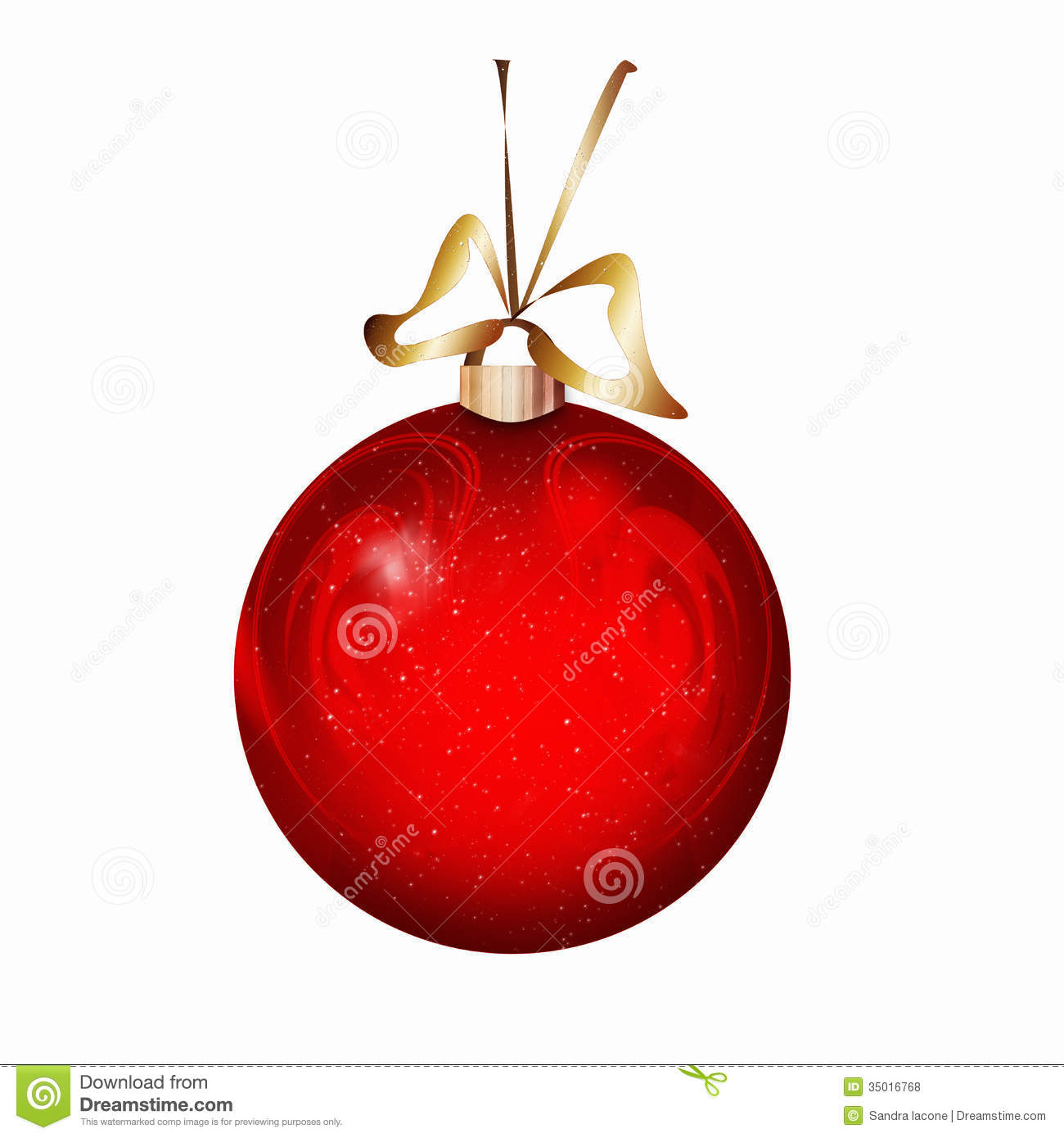 Red Christmas Ball Royalty Free Stock Photos Image 35016768