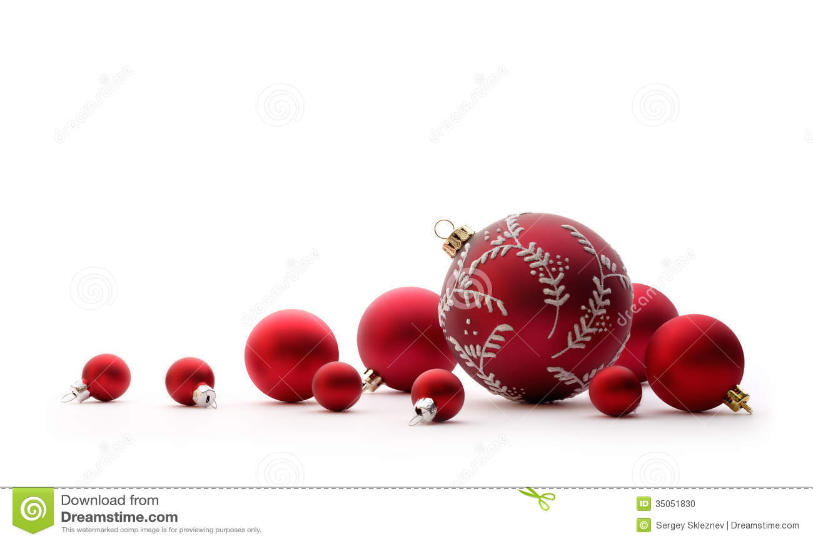 Red christmas balls stock photo image of shiny nobody