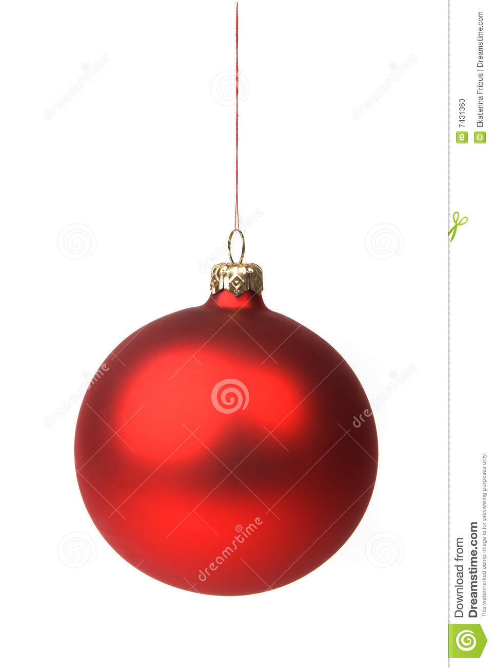 Red christmas bauble stock photo image of ornament color