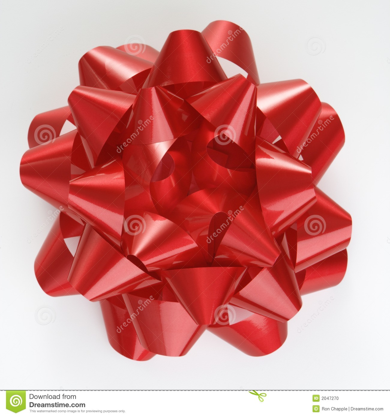 Red Christmas Bow. Stock Photo - Image: 2047270
