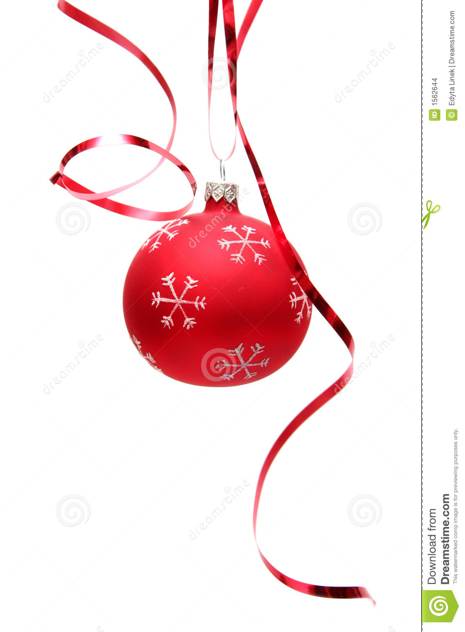 Red Christmas Bulb Stock Photo Image Of December