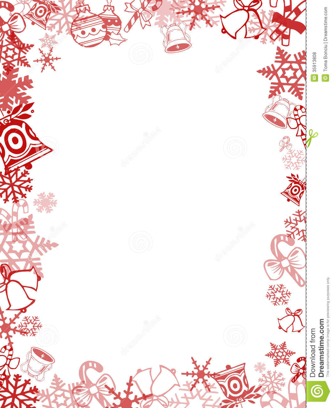 Red Christmas Card Frame Royalty Free Stock Photos - Image: 35913808