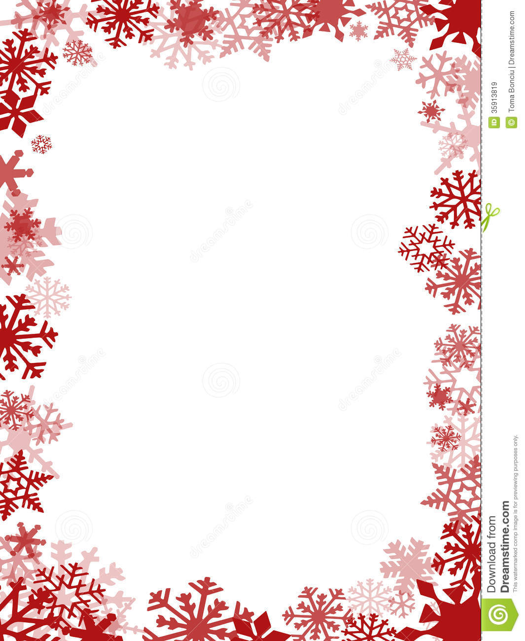 Christmas Card Border.Red Christmas Card Frame Stock Illustration Illustration Of