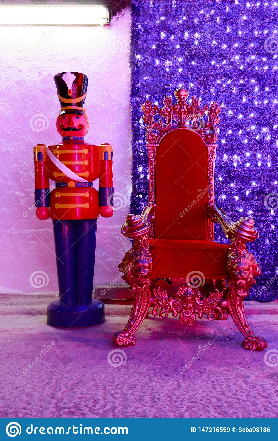 Red Christmas chair