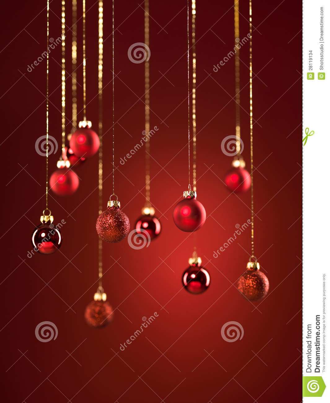red christmas decorations - Red Christmas Decorations