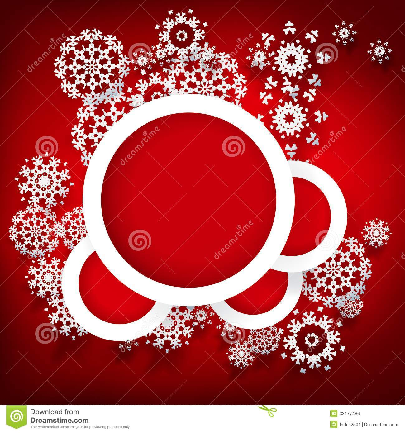 red christmas design with space for text. royalty free stock image
