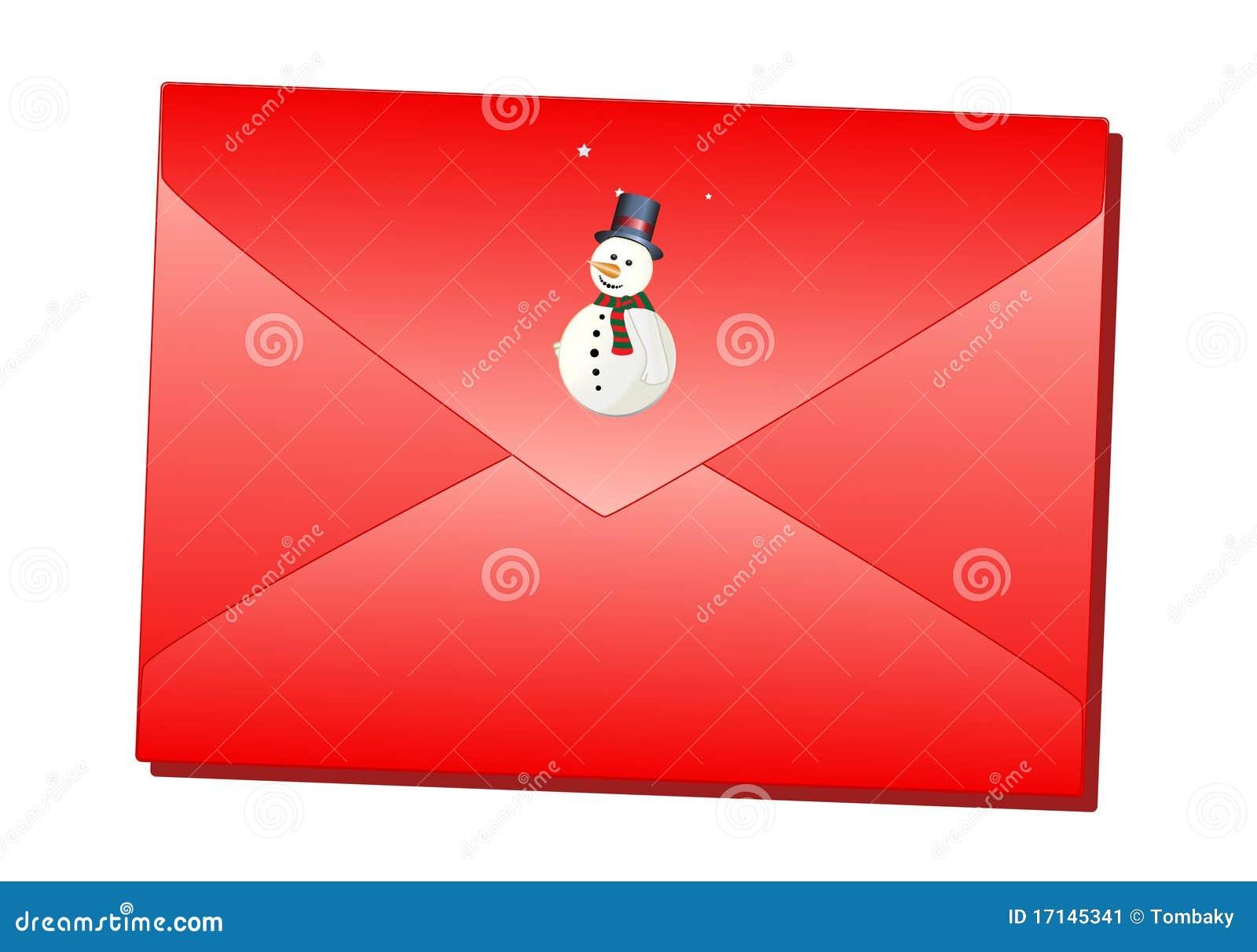 Red Christmas envelope