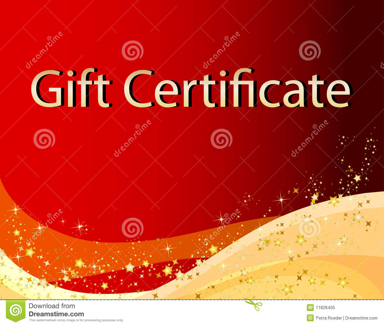 Blank Christmas Gift Certificate Red christmas gift certificate
