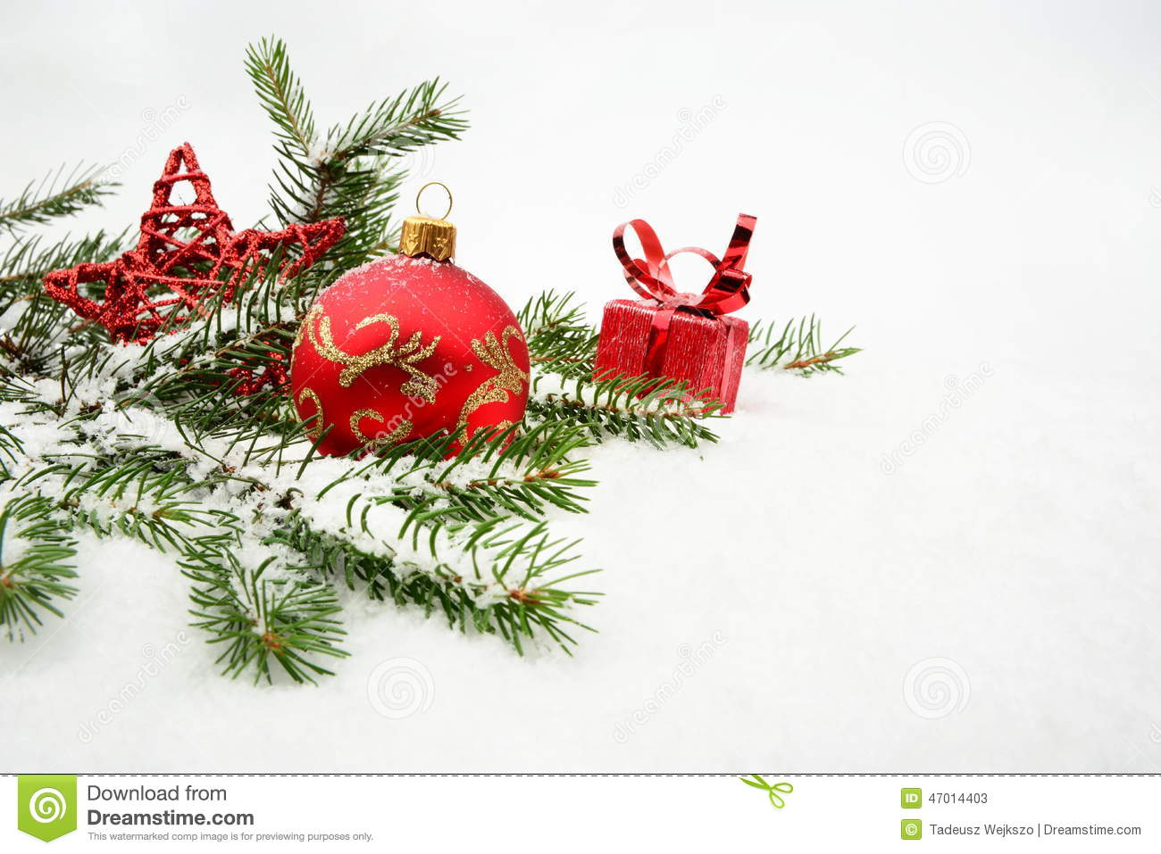 Red christmas bauble and gifts stock image cartoondealer for White christmas baubles