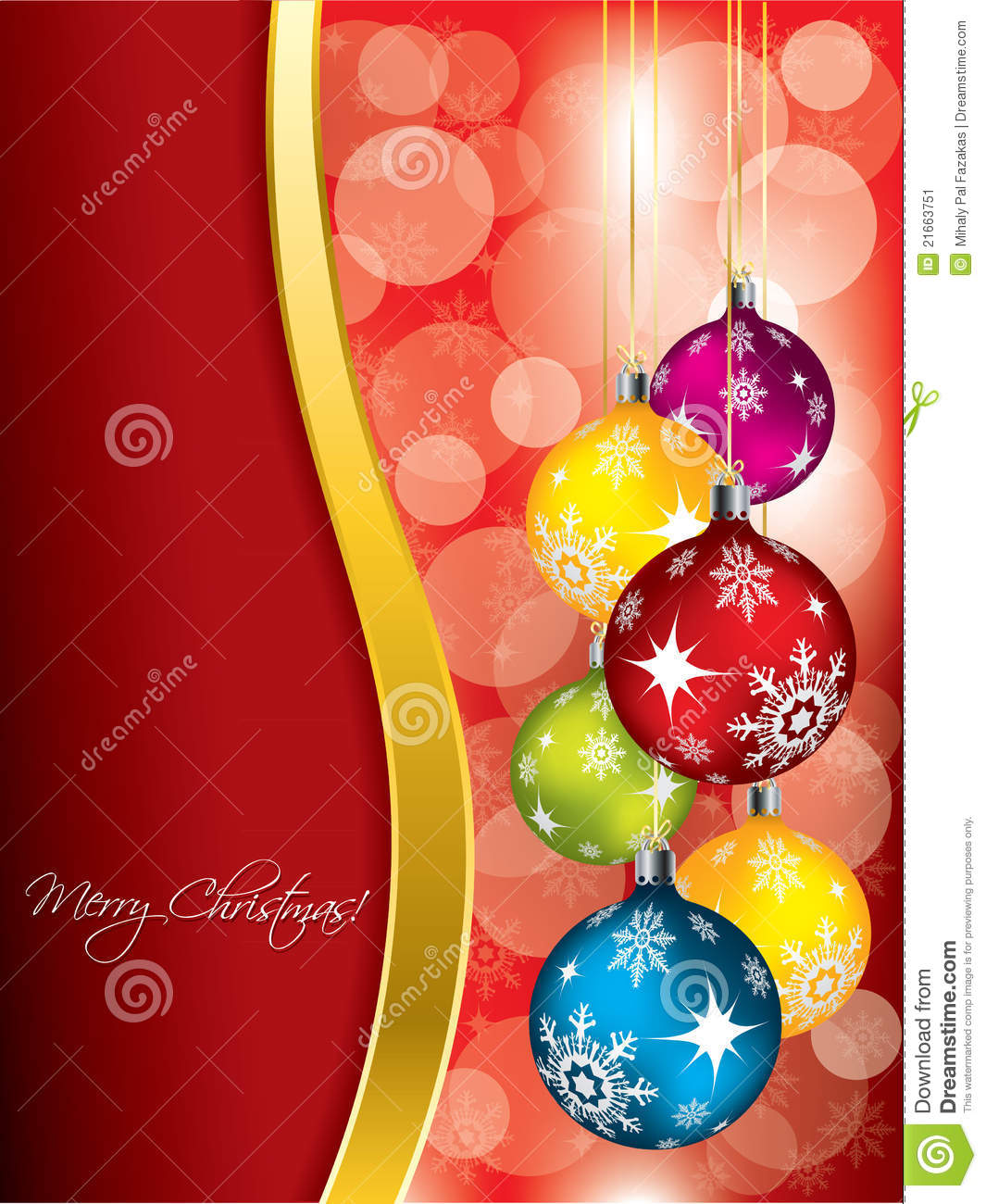 Red christmas greeting card design with gold wave stock vector red christmas greeting card design with gold wave m4hsunfo