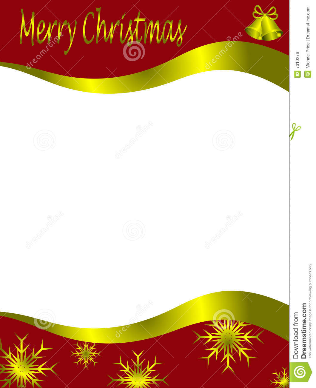 Red Christmas Letter Template Royalty Free Stock Image - Image ...