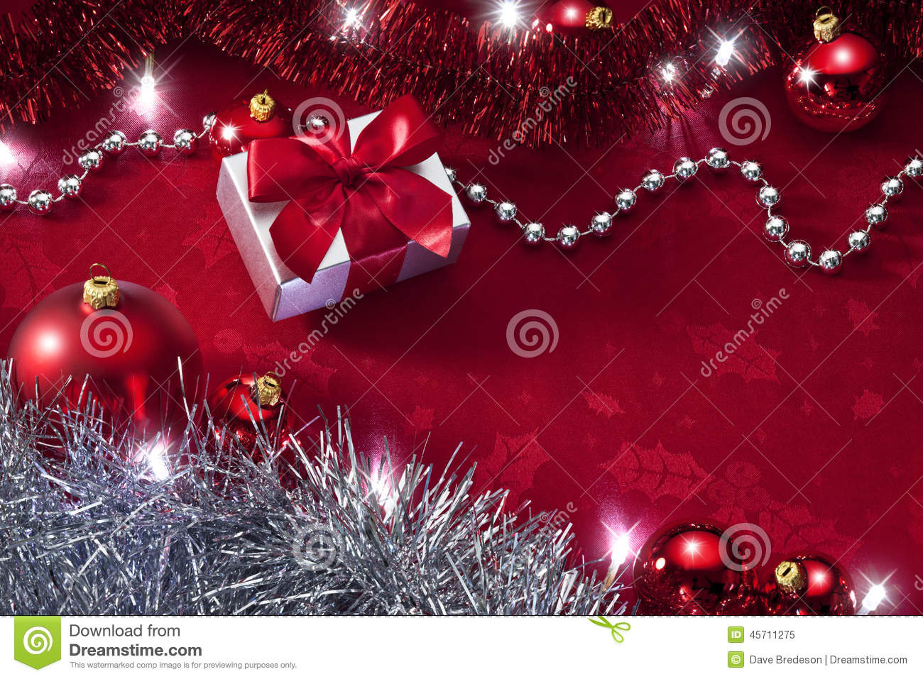 Red Christmas Lights Background Stock Image Image Of