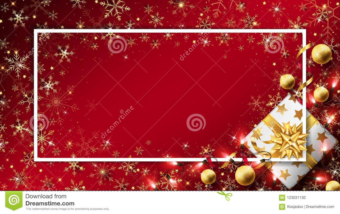 Red Christmas luxury background