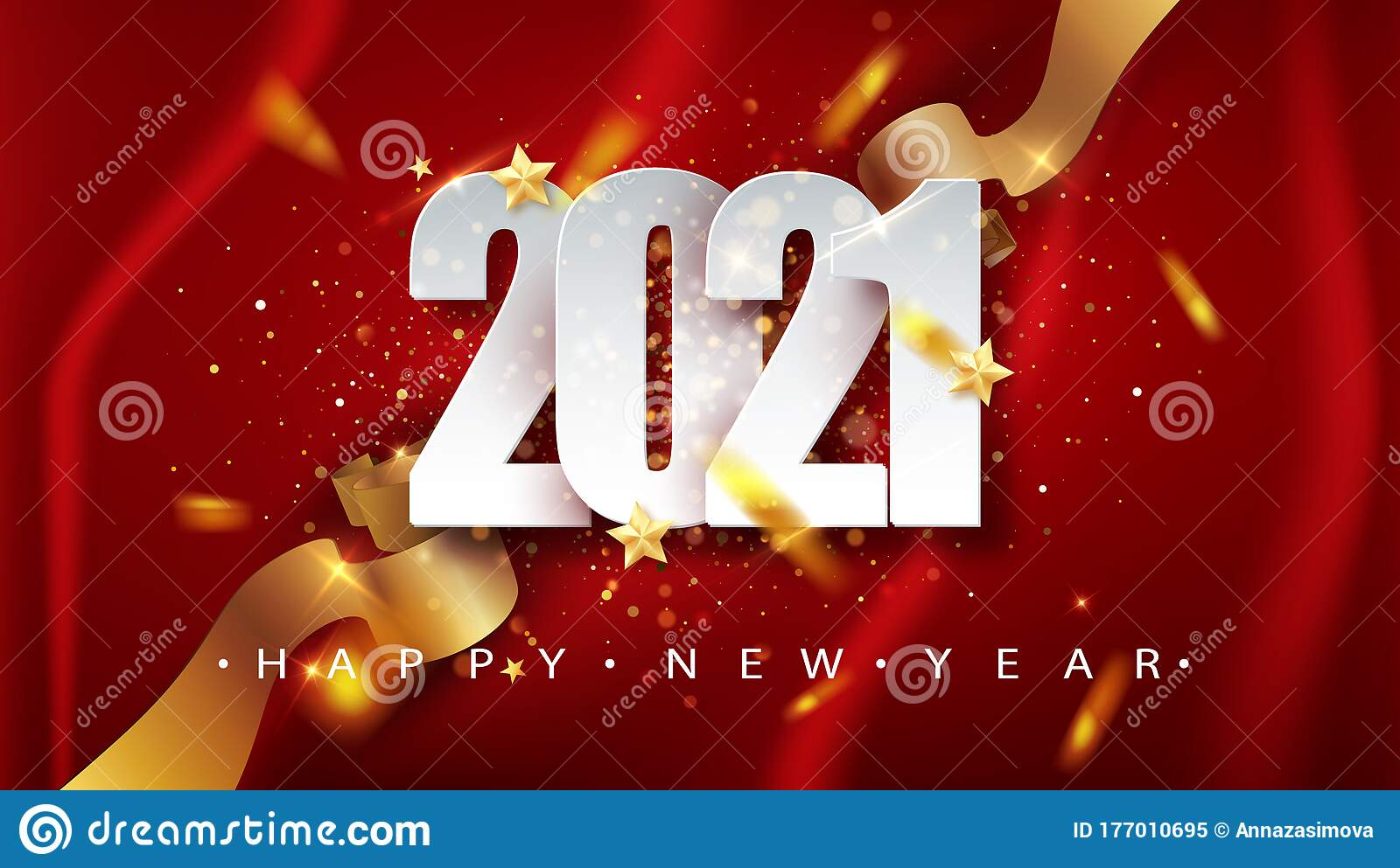 2021 Red Christmas, New Year Background . Greeting Card Or ...