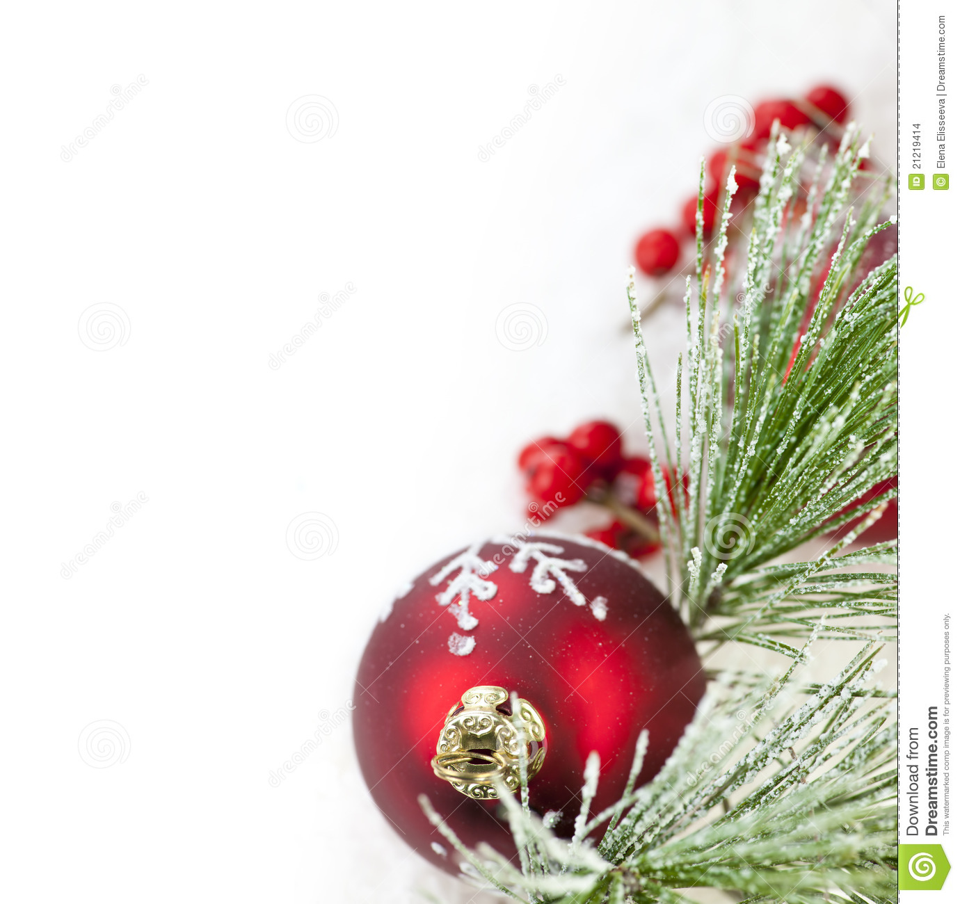Red christmas ornament border stock photo image of copy