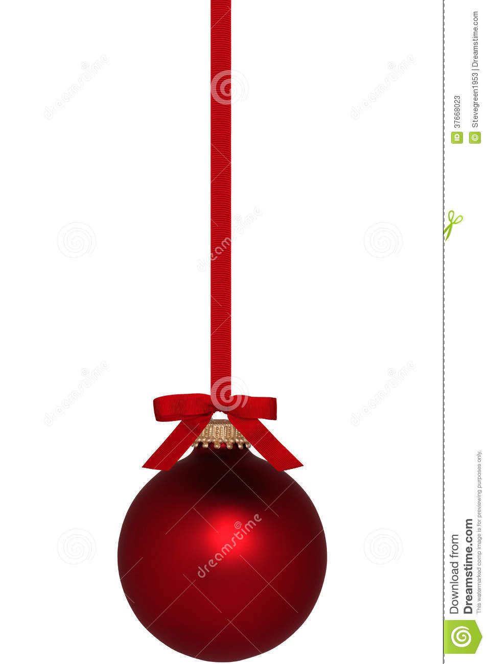 Red Christmas Ornament With Bow Stock Photos - Image: 37668023