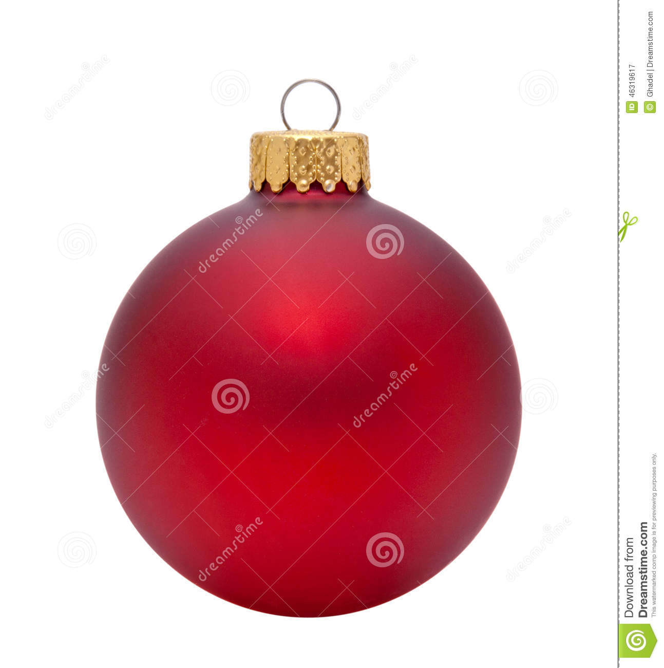 Red Christmas Ornament Stock Photo Image