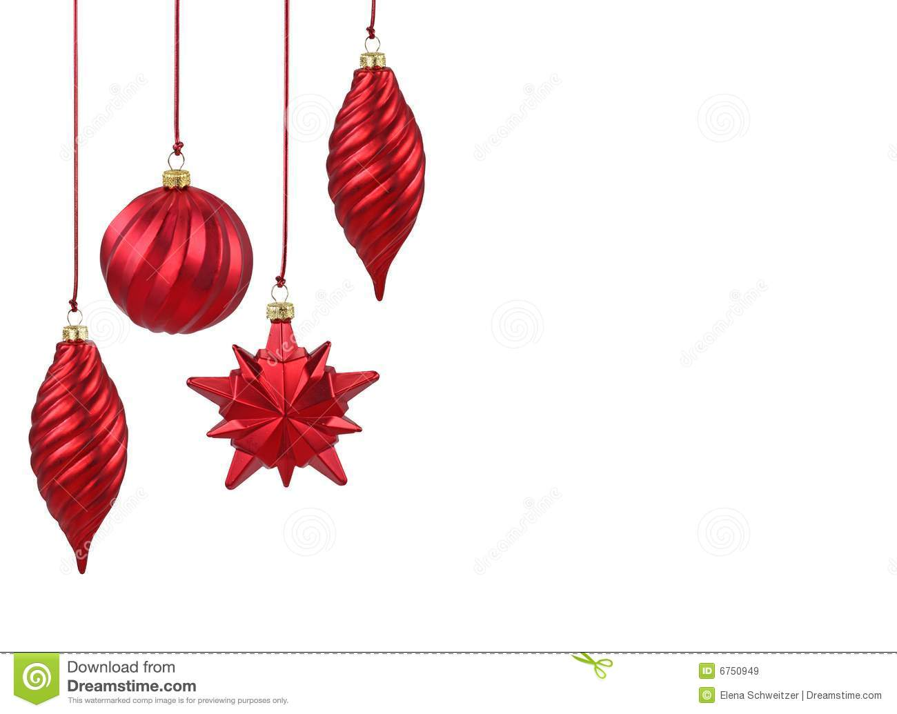 Red christmas ornaments stock image image of holiday for Red xmas decorations