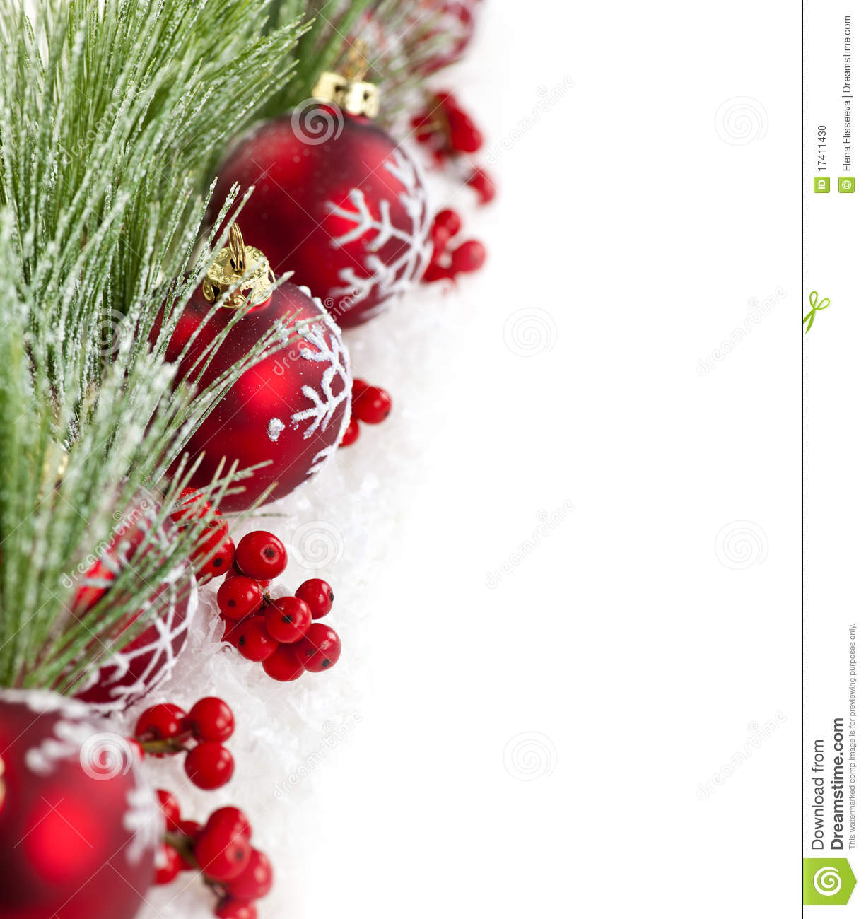 Border Branches Christmas Copy Decorations