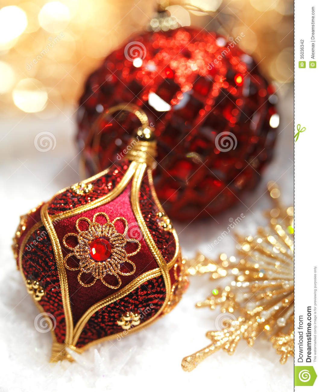 red christmas ornaments stock photo image of still color