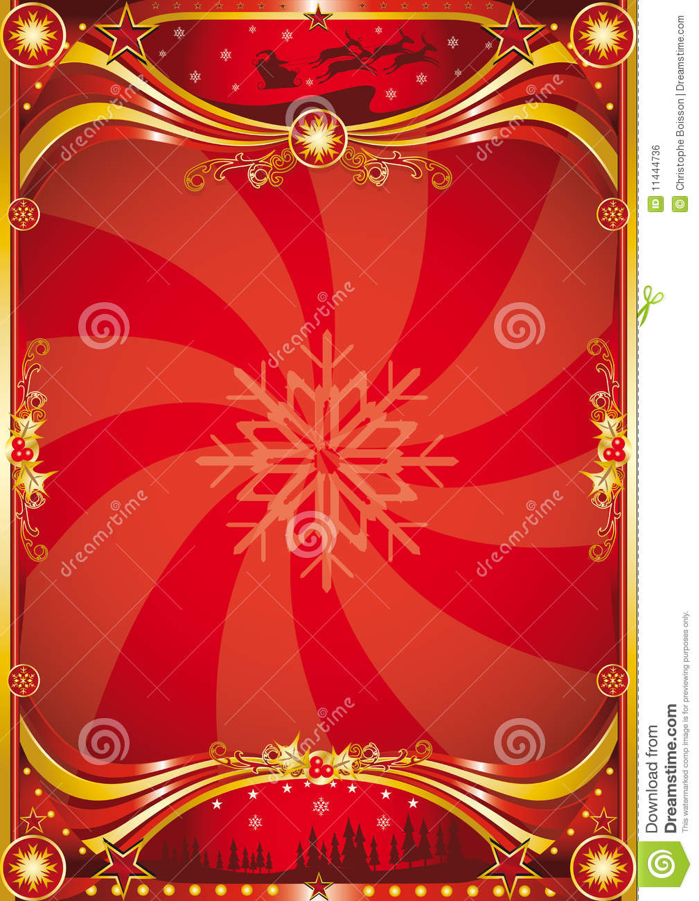 red christmas poster royalty free stock image image swirl vector art swirl vectorimages