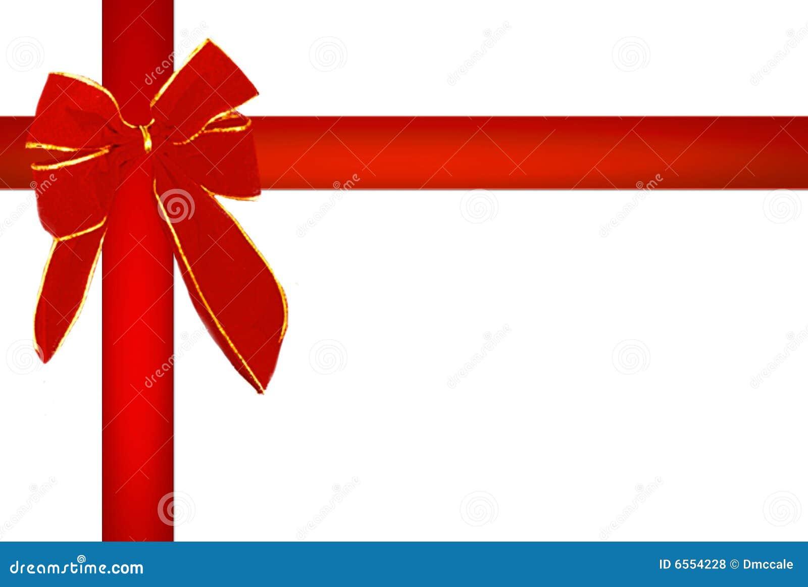 Red Christmas Ribbon Royalty Free Stock Photos - Image: 6554228