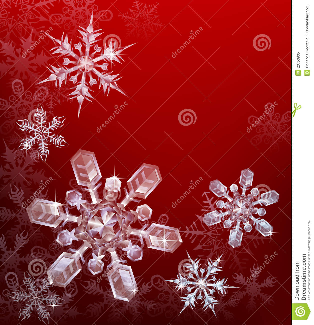 Red christmas snowflake background royalty free stock
