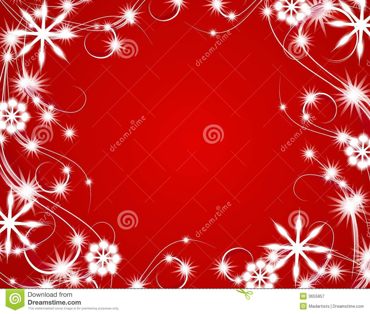 Red Christmas Sparkling Lights Background Stock