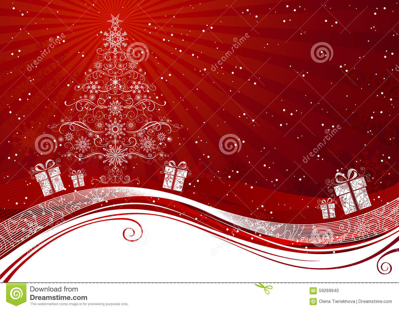 red christmas tree background - photo #48