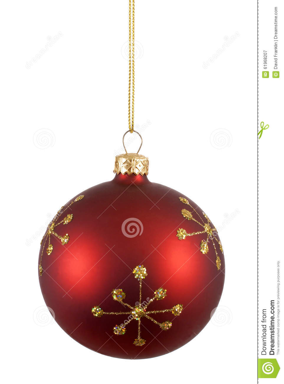 Christmas decoration and ornament pattern in gold cartoon