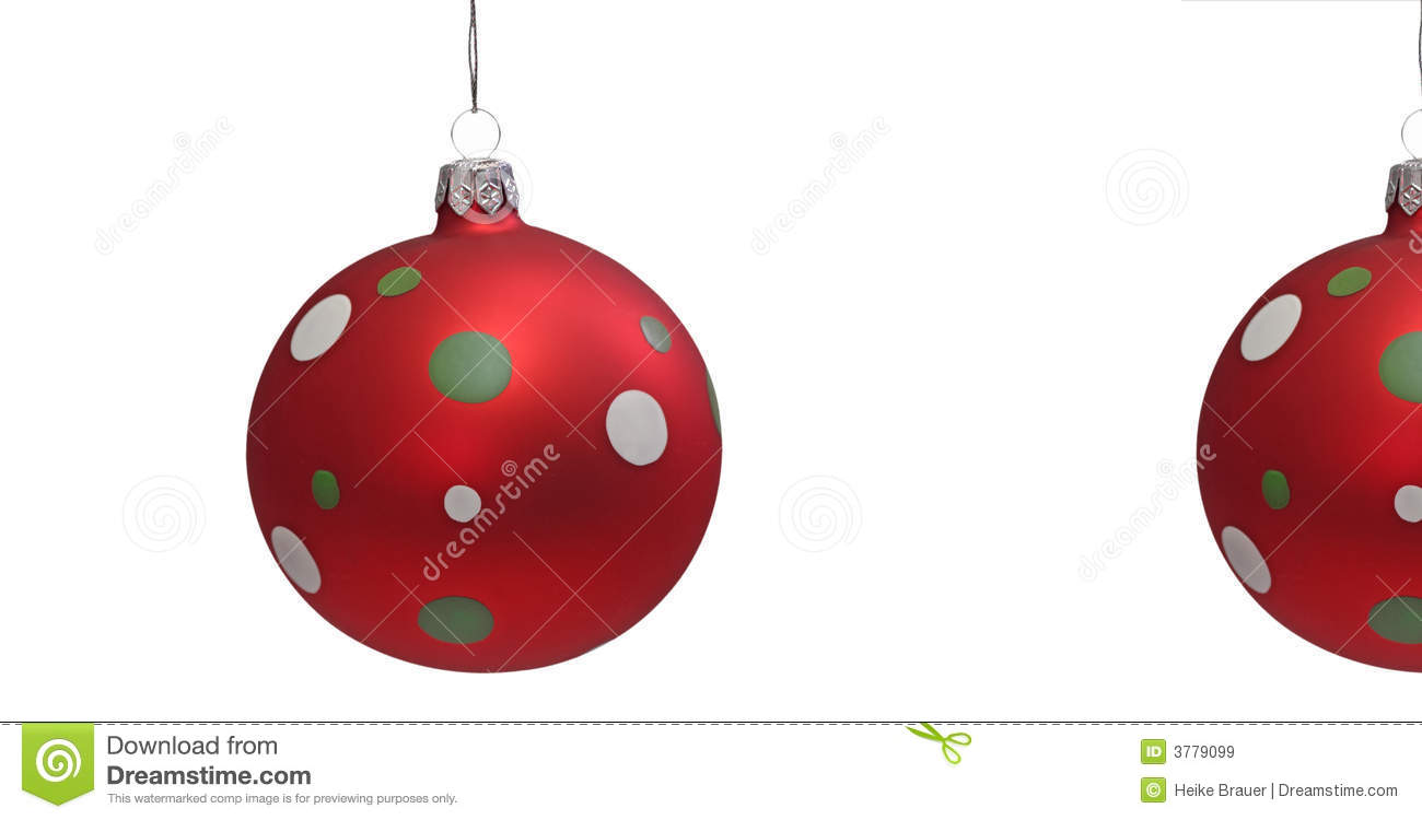 Red christmas tree balls royalty free stock images image