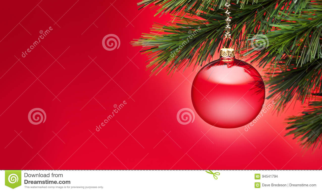 Red Christmas Tree Banner Background Banner