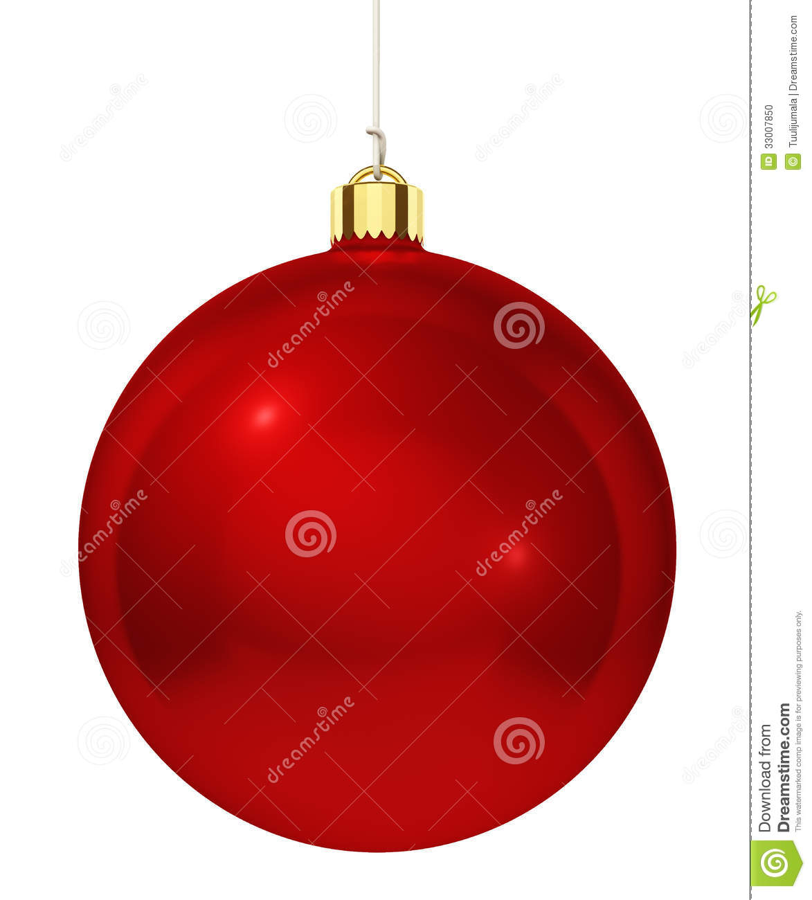 Red christmas tree decoration stock photo image