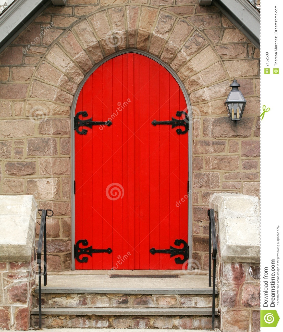 Red Church Door Royalty Free Stock Images - Image: 2152509