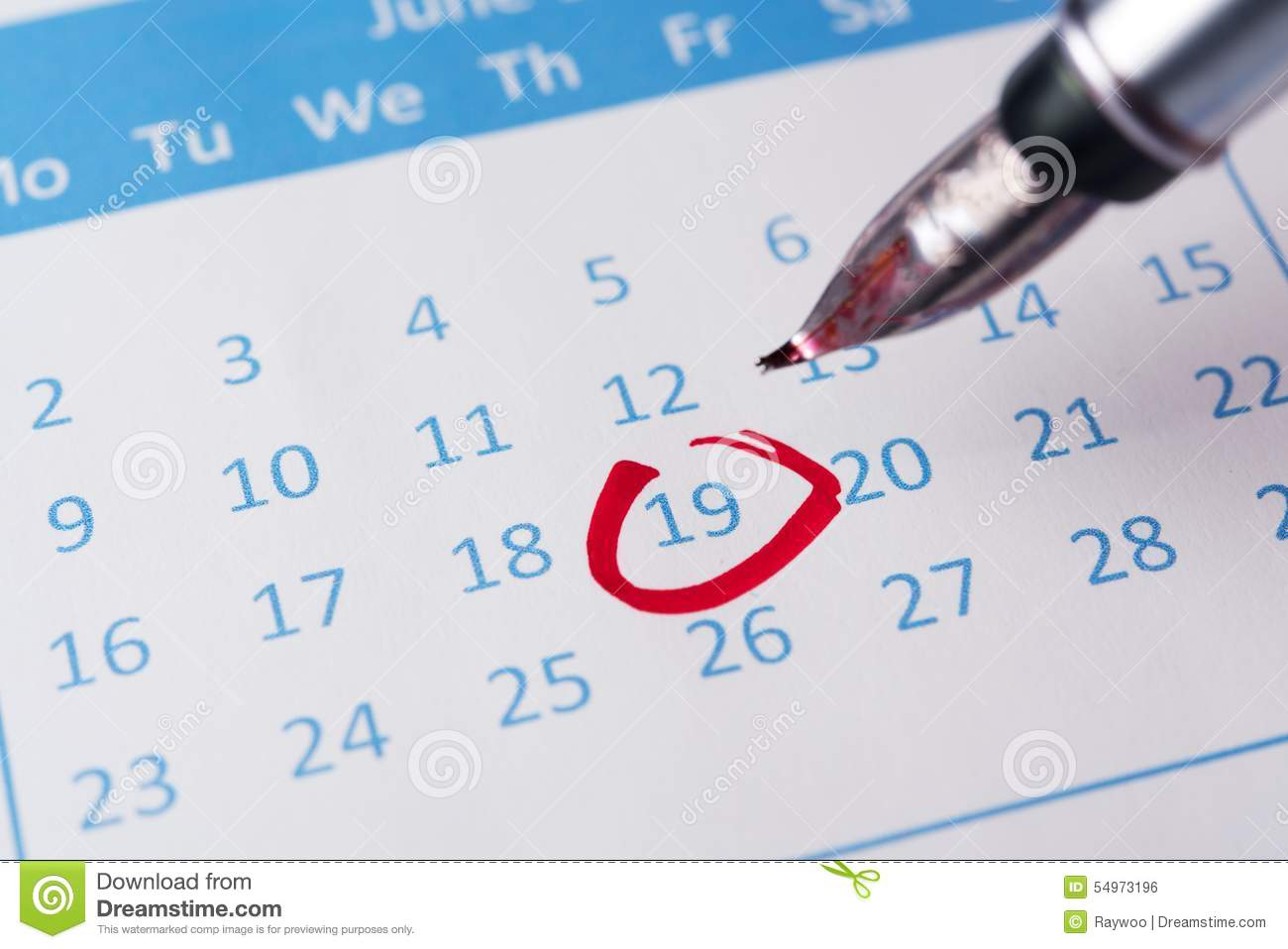 red circle on calendar stock photo image 54973196 pin clipart pen clip art free