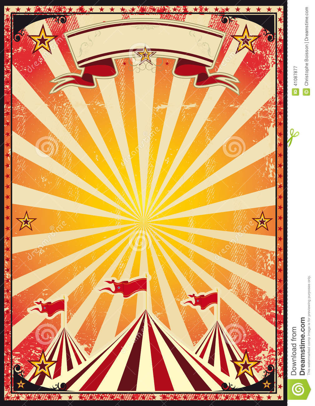 Vintage Circus Poster Background File Name  red-circus-retro-