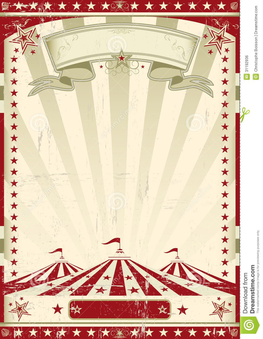 Red Circus Retro Stock Illustration Of Poster