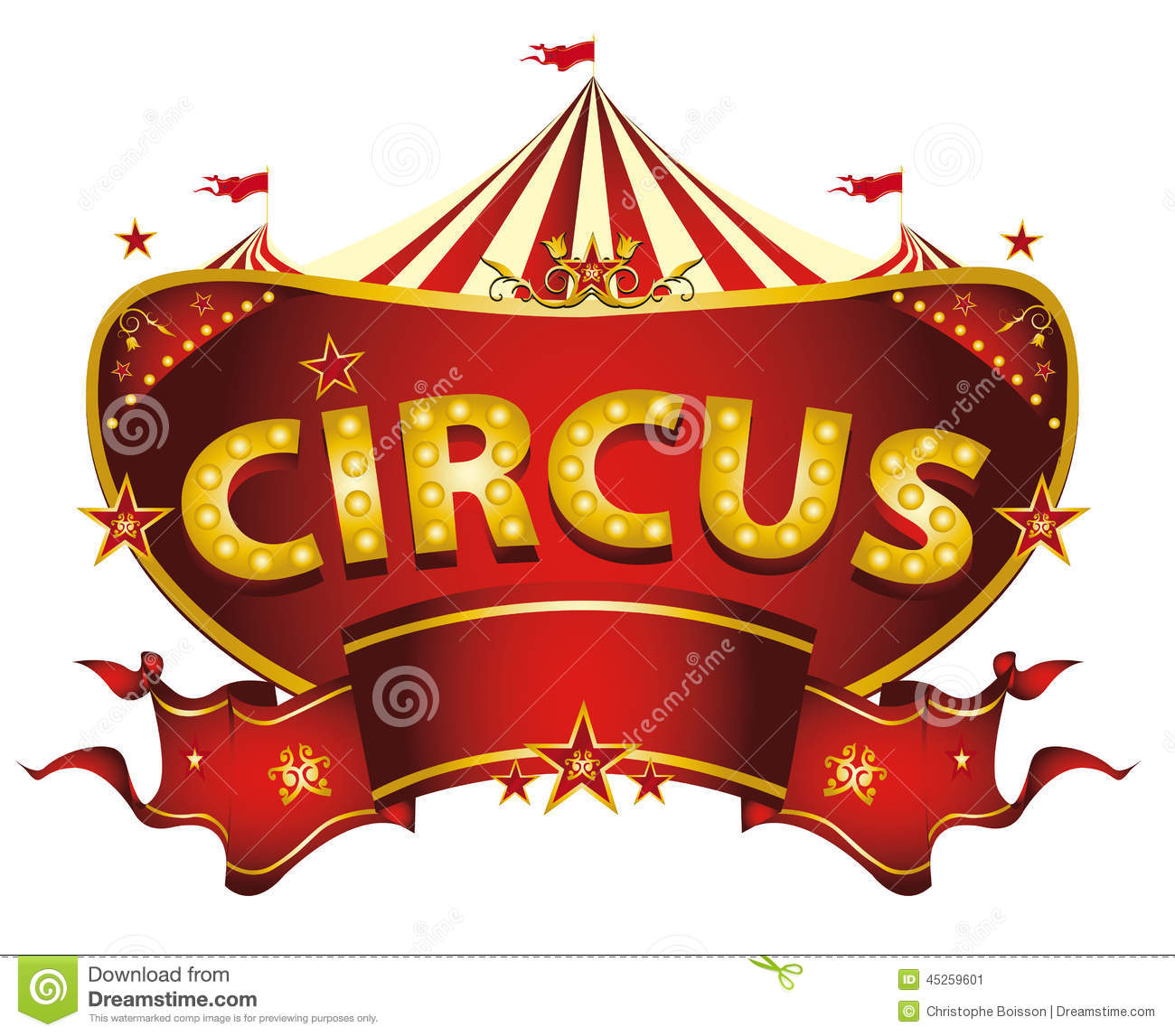 Red Circus Sign