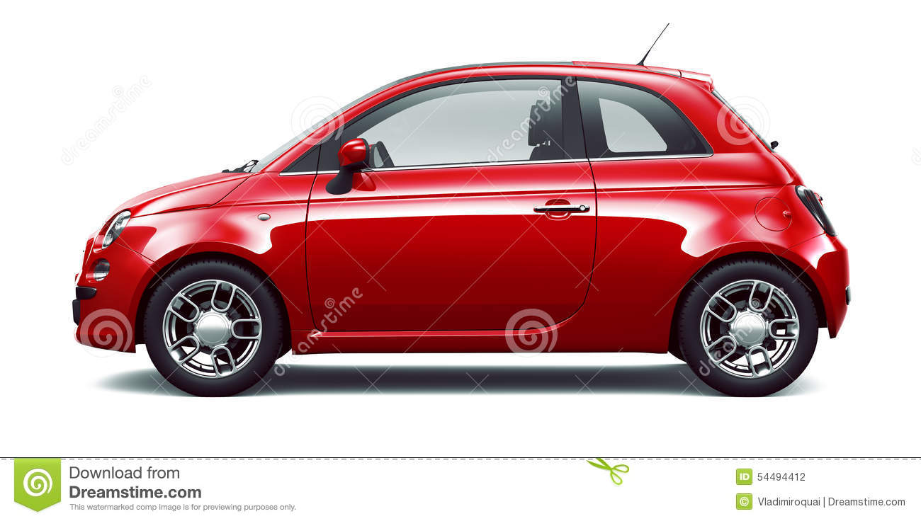 red city car side view stock illustration illustration