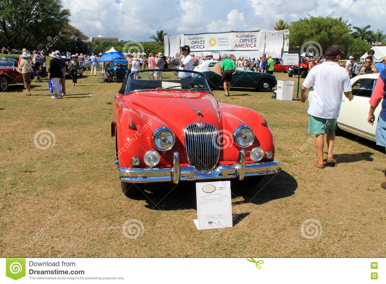 Red Classic Jag Convertible Editorial Stock Image Image Of Auto Bumper 72817824