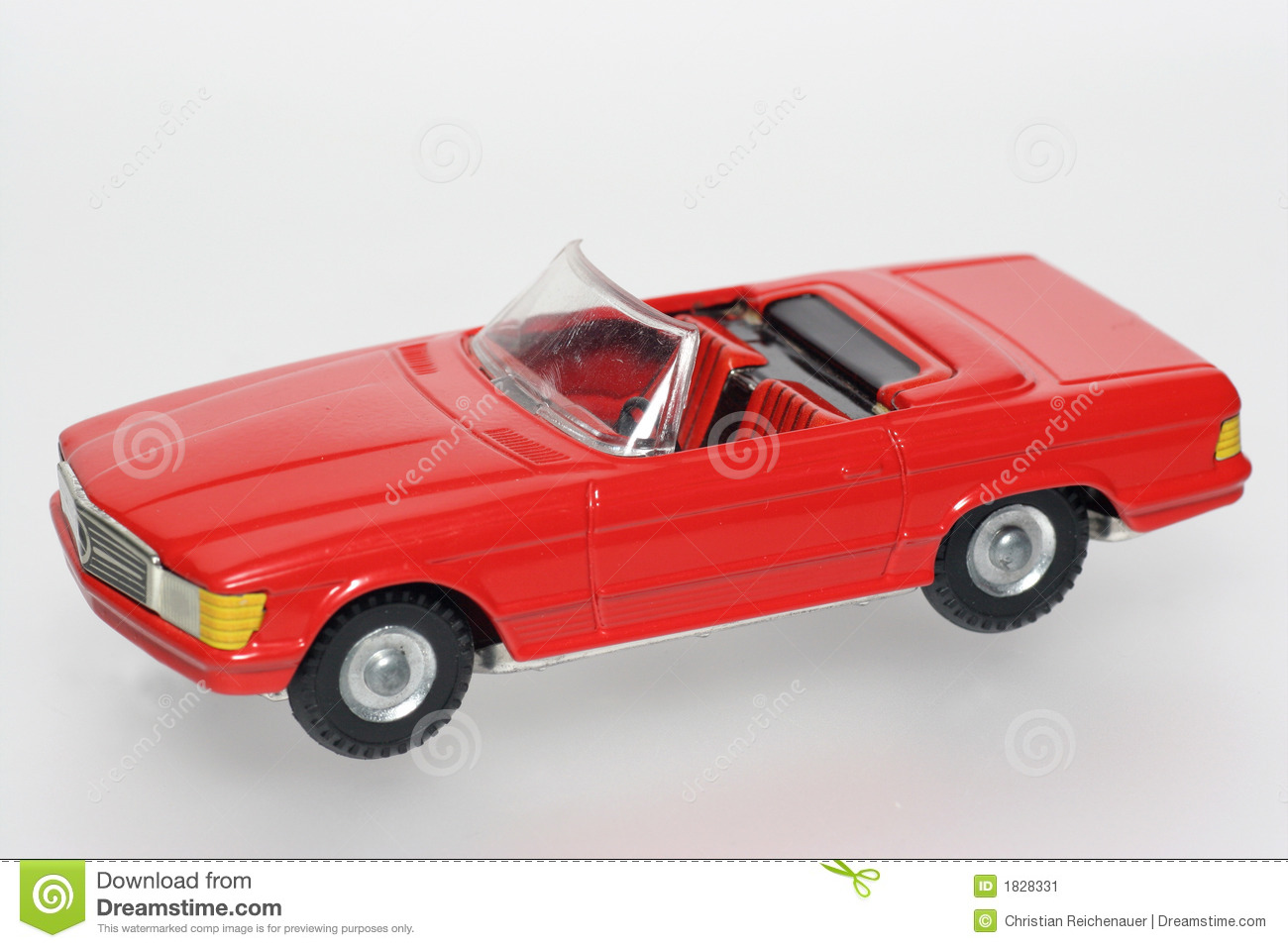 Red Classic Mercedes Toy Cars Stock Image