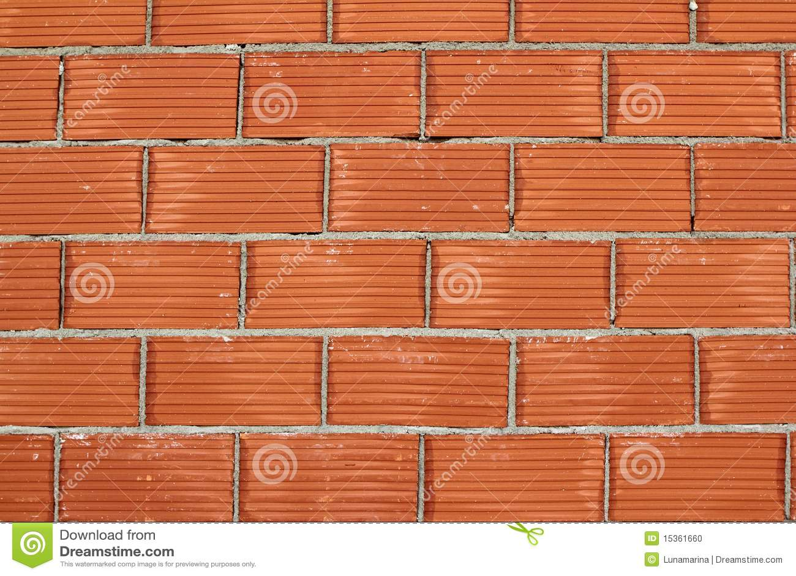 Red Clay Bricks : Red clay brick wall construction airbrick stock photo