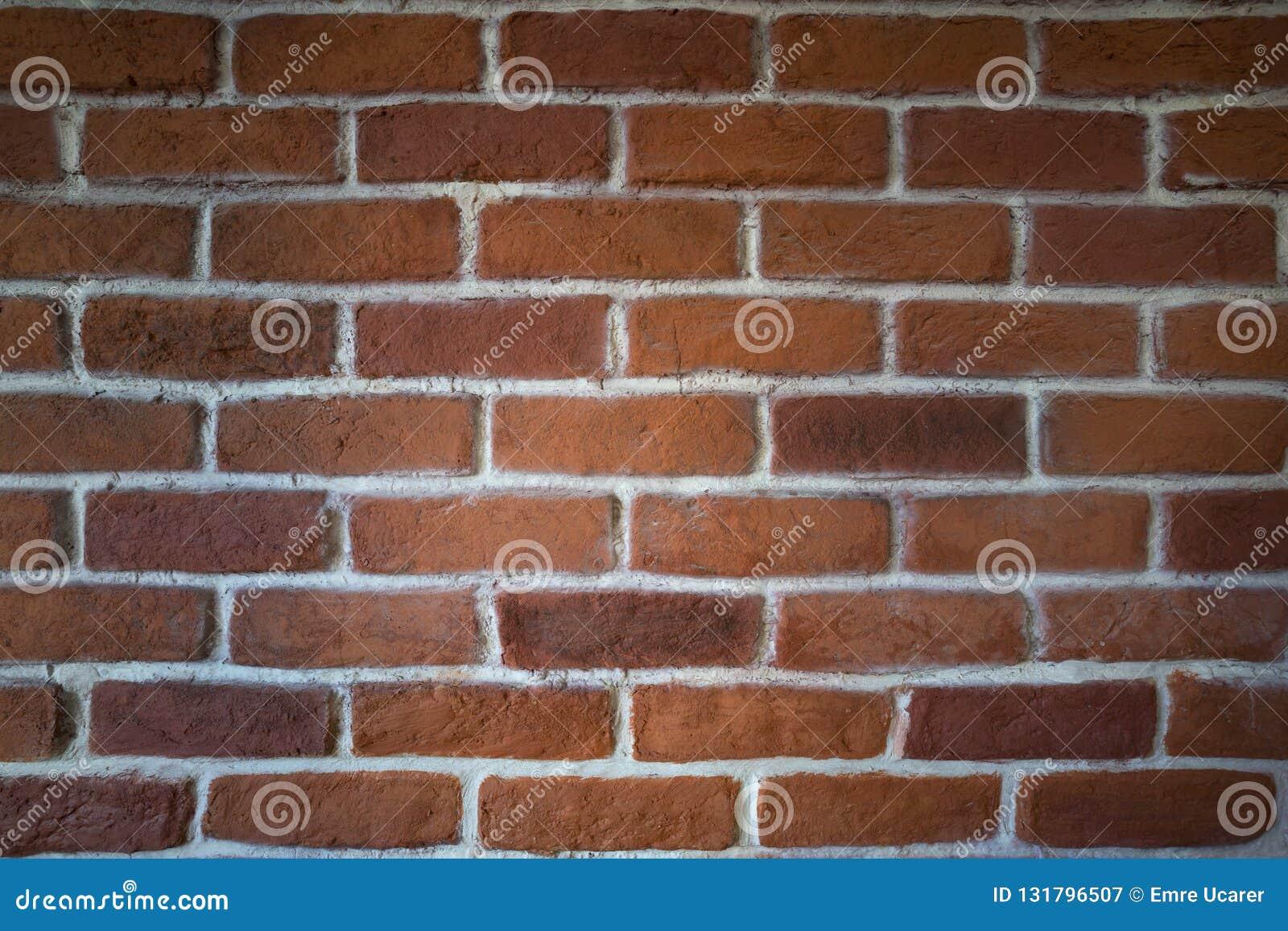 Red clay brick wall