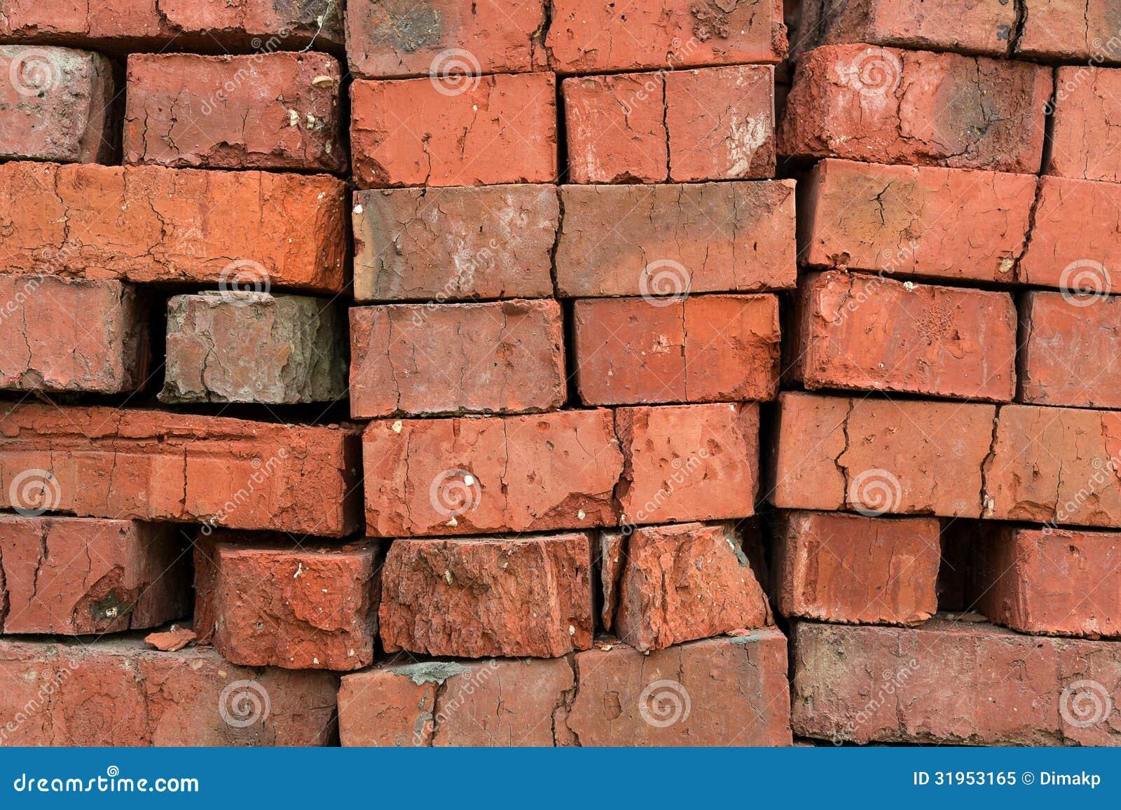 Red Clay Bricks : Red clay bricks royalty free stock photo image